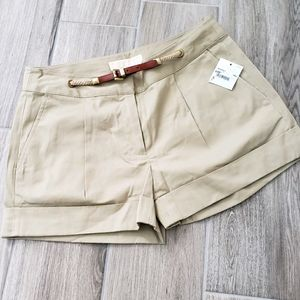 NWT Michael Kors beige shorts sz 0